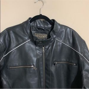 ARIZONA Racer Faux Leather Biker Jacket 2XL Black